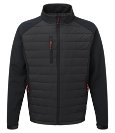 TUFFSTUFF SNAPE RIPSTOP NYLON AND SOFTSHELL JACKET