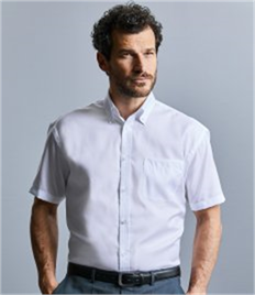 Russell Collection Short Sleeve Ultimate Non-Iron Shirt