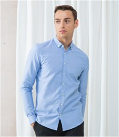 Henbury Modern Long Sleeve Slim Fit Oxford Shirt