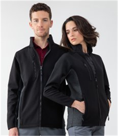 Henbury Unisex Contrast Soft Shell Jacket