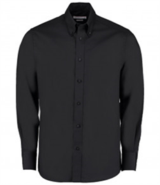 Kustom Kit Premium Long Sleeve Tailored Oxford Shirt