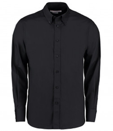 Kustom Kit Long Sleeve Tailored City Business Shirt