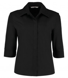 Kustom Kit Ladies 3/4 Sleeve Tailored Continental Shirt