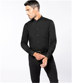 Kariban Long Sleeve Mandarin Collar Shirt