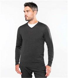 Kariban Cotton Acrylic V Neck Sweater