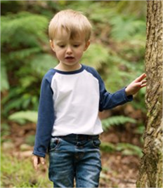 Larkwood Baby/Toddler Long Sleeve Baseball T-Shirt
