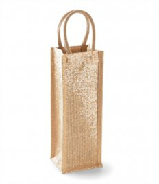 Westford Mill Shimmer Jute Bottle Bag