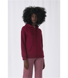 B&C Women's Queen Zipped Hooded Sweat
