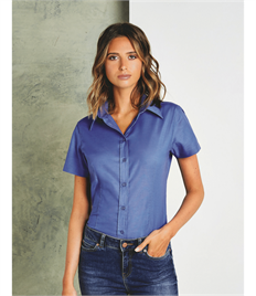 Tailored Fit Short Sleeve Workwear Oxford Shirt