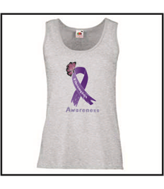 Ladies Purple Awareness Ribbon Vest