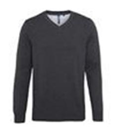 ASQUITH & FOX Men's cotton blend v-neck sweater
