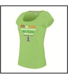 Ladies Humorous Awareness Quote scoop neck T-shirt