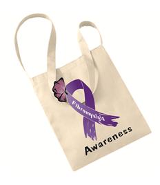 Purple Awareness Ribbon ote bag