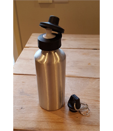 Single Silver Metal Bottle