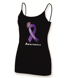 Ladies Fibro Ribbon and Butterfly stappy vest
