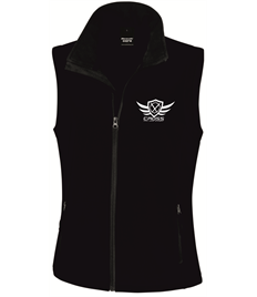 CKM Ladies Black Soft Shell Gillet