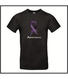 Plus Size Unisex Purple Awareness Ribbon high neck T-shirt