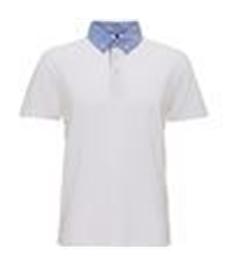 ASQUITH & FOX Men's chambray button-down collar polo