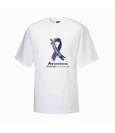 FM Plus Size Blue Ribbon Awareness T-shirt