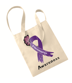 Fibro Awareness Ribbon Tote bag